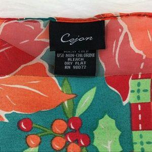 Cejon Accessories - CEJON | Holiday Multi-Color Chiffon Scarf